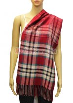 Plaid Scarf Dark Red