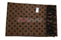Cashmere Feel Dots Scarf Brown