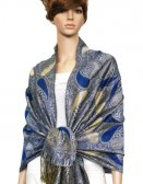 Metallic Pashmina Royal Blue