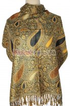 Thicker Paisley Shawl Gold