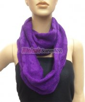 Wholesale Infinity Solid Scarf Purple