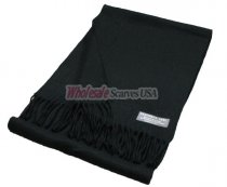 Winter Woven Plain Scarf Black
