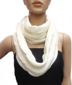 Wholesale Infinity Solid Scarf White