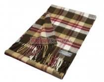 Cashmere Feel Plaid Scarf Brown/Berry