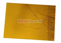Woven Plain Scarf Gold