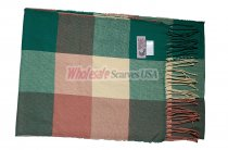 Cashmere Feel Checker Scarf Green