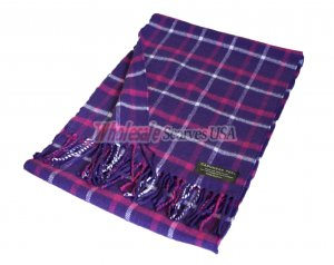Woven Checker Scarf A52 Purple