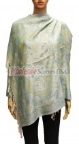 Wholesale Butterfly Design Pashmina Green