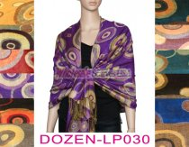 Circle Design Scarf 1 DZ, Asst. Color
