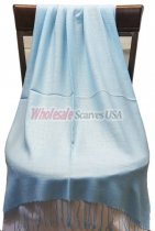 Silky Light Solid Pashmina Light Blue