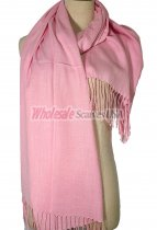 Silky Light Solid Pashmina Pink