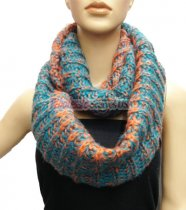 Lop Chunky Knit Infinity Scarf Teal