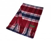 Cashmere Feel Plaid Scarf A65 Red