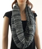 Stripe Loop Scarf Grey
