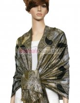 Metallic Pashmina Black