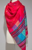 Paisley Stripe Pashmina Red