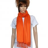 Solid Pashmina Orange