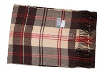 Cashmere Feel Plaid Scarf Brown/Red