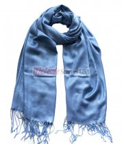 Solid Pashmina Cornflower Blue