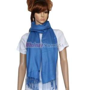 Solid Pashmina Blue
