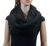 Infinity Knit Scarf black