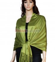 Super Solid Pashmina Army Green