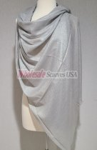 Shimmer Solid Wrap Silver
