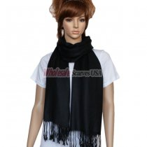 Solid Pashmina Black Dozen (12 pcs)