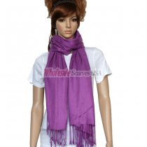 Solid Pashmina Violet Red