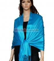 Super Solid Pashmina Blue