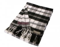 Woven Checker Scarf A48 White/Black