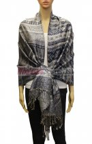 Geometry Pattern Scarf BH1805 Navy