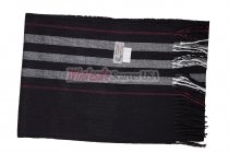 Cashmere Feel Stripe Scarf Black