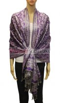 Flower Pashmina Purple