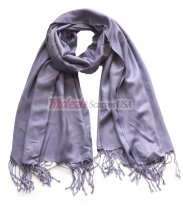 Solid Pashmina Crushed Grape