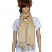 Solid Pashmina Beige
