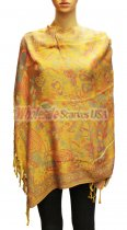 Wholesale Butterfly Design Pashmina Yellow