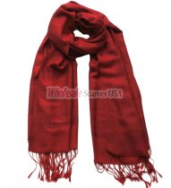 Paisley Jacquard Shawl Dark Red