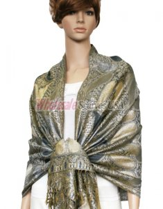 Metallic Pashmina Black Grey