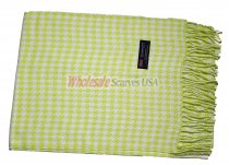 Cashmere Feel Pattern Scarf Lime