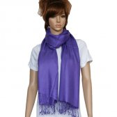 Solid Pashmina Purple