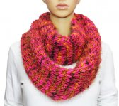 Infinity Fluffy Knit Scarf Hot Pink