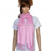 Solid Pashmina Light Pink Dozen (12 pcs)