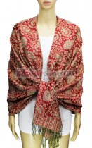 Pashmina Multi Paisley Red