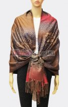 Pashmina Ombre Leopard Brown/Red