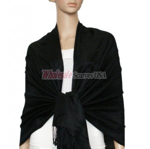 Soft Circle Pashmina Black