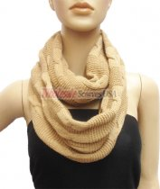 Wholesale Infinity Solid Scarf Carmel