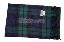 Cashmere Feel Plaid Scarf Navy/Green