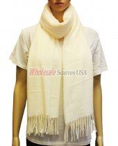 Cashmere Feel Pashmina White