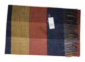 Cashmere Feel Checker Scarf Navy/Yellow